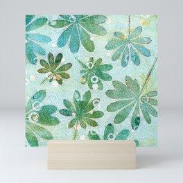 Dreamy green flowers Mini Art Print