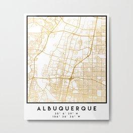 ALBUQUERQUE NEW MEXICO CITY STREET MAP ART Metal Print
