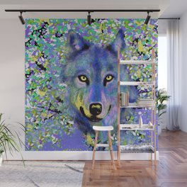 WOLF IN THE GARDEN Wall Mural
