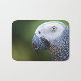 Close up of an African Grey Parrot Bath Mat