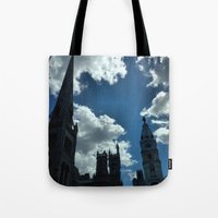 philadelphia Tote Bags featuring Philadelphia by Julie Maxwell
