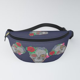 Lady Skull ready to party Fanny Pack