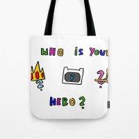 hero Tote Bags featuring hero by Katharina Nachher