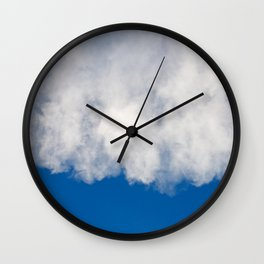 Cotton candy in blue Wall Clock