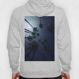 Palm Trees, Night Sky, Stars, Moon Hoody