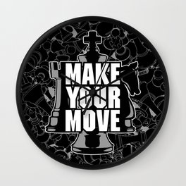 Make Your Move Chess Wall Clock