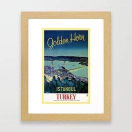 Golden Horn Istanbul Framed Art Print