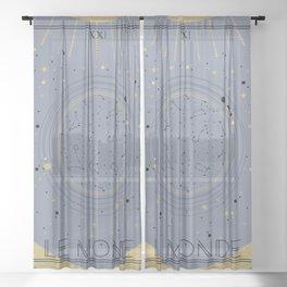 The World or Le Monde Tarot Sheer Curtain
