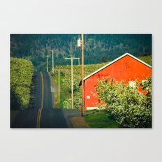 Hilly Country Road, Hood River Valley, Oregon Canvas Print