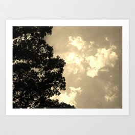 Dusk Luminescent Clouds Art Print