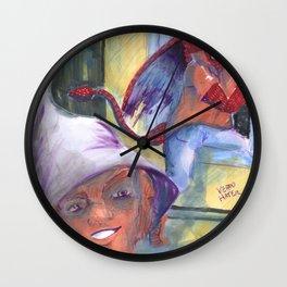 wizard and devil boyfriends Wall Clock