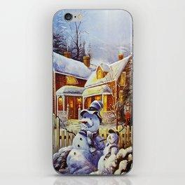 Father & Son Snowman iPhone Skin