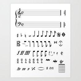 Musical Notation Art Print