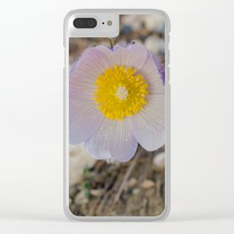 Purples Crocus Clear iPhone Case