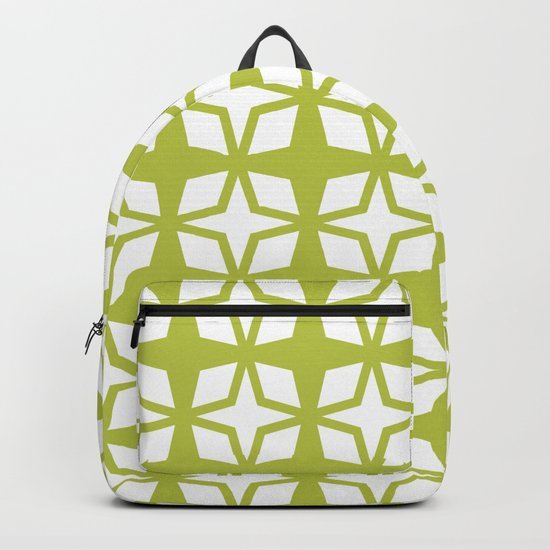 Mid Century Modern Star Pattern Chartreuse 552 by tonymagner