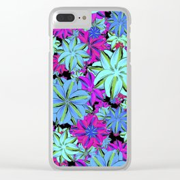 Vibrant Floral Collage Clear iPhone Case