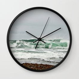 Explosive Green Surf of the St-Lawrence Wall Clock
