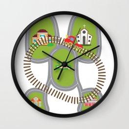 Car carpet train nursery street gift Wall Clock