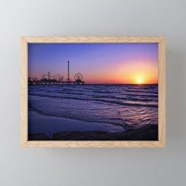 Pleasure Pier Sunrse Framed Mini Art Print
