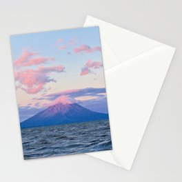 Nicaraguan Volcano at Sunset Stationery Cards