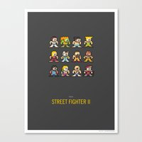 street fighter Canvas Prints featuring Mega Street Fighter II by Sound of Design
