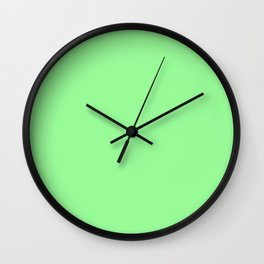 Pale Green - solid color Wall Clock