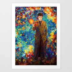 10th Doctor with screwdriver abstract art Art Print