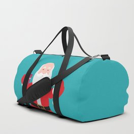 Have a A delightful cup of Christmas with Santa Claus Duffle Bag