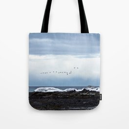 Winter Flight Tote Bag