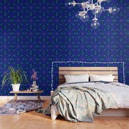 Bright Blue Kaleidoscope Wallpaper
