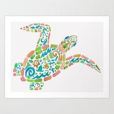 Surf Turtle Art Print