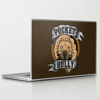 pocket Laptop & iPad Skins featuring Pocket Bully by Pancho the Macho