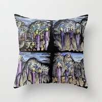 cities Throw Pillows featuring Cities by Kimmo Rantalainen