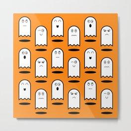 Cute Halloween Ghosts Metal Print