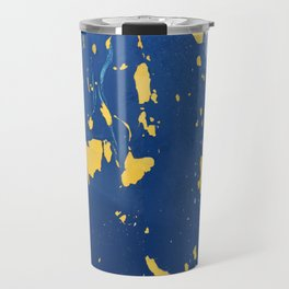 Meteor Shower as Seen on the Hull of a Boat Travel Mug