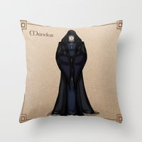 valar morghulis Throw Pillows featuring Mandos by wolfanita