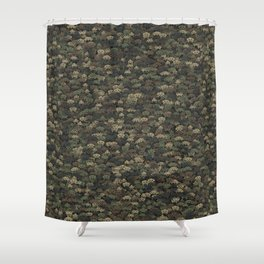 Invaders camouflage Shower Curtain