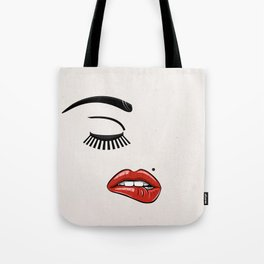 GIRL FACE - EYE - LIPS Tote Bag