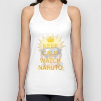 naruto Tank Tops featuring Naruto by Wis Marvin