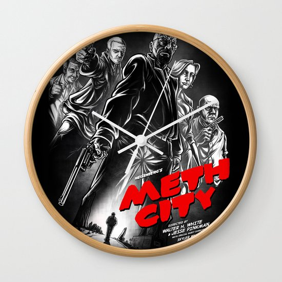 Meth City Wall Clock