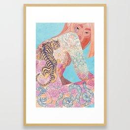 ALL COVERED Framed Art Print