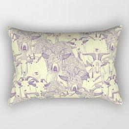 just goats purple cream Rectangular Pillow