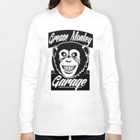 grease Long Sleeve T-shirts featuring Grease Monkey Garage by Broenner