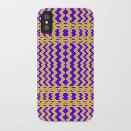 Bright Purple Yellow Wavy Lines iPhone Case