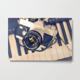 piano et la photographie Metal Print