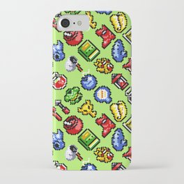 The Legend of Z   retrogaming nostalgia pattern   green iPhone Case
