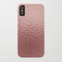 Pure Rose Gold Metal Pink iPhone Case