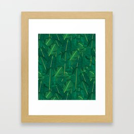 Banana Leaf Canopy Framed Art Print