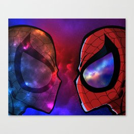 Spidey VS Cosmic Spidey Canvas Print