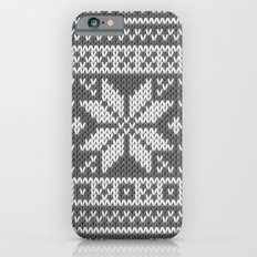 Winter knitted pattern 1 iPhone 6s Slim Case